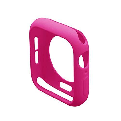 ZHONGGOZZ Cubierta para la Caja del Reloj de Apple 44mm 40mm para iWatch Case 42mm 38mm Accesorios Silicone Bumper Protector para la Serie de Relojes Apple SE 3 4 5 6