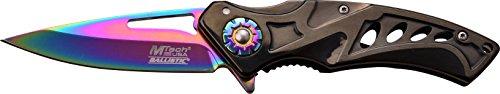 MTech USA Taschenmesser,  Regenbogen-Titan beschichtete Klinge, MT-A917BRB