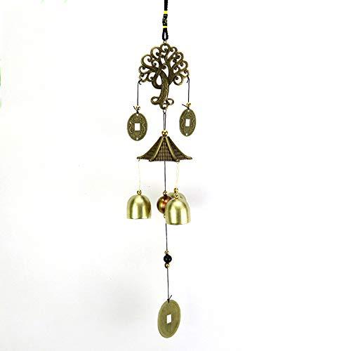 Amaoma Campana de Metal China, Campanas de Viento Lucky Feng Shui Colgante Charm Wind Chime Decoración Interior del Hogar