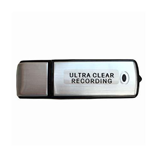 Ballylelly Mini grabadora de Voz de Audio 8G o 16G USB Recargable Ultra Claro Grabación Dictaphone USB Flash Drive para reuniones