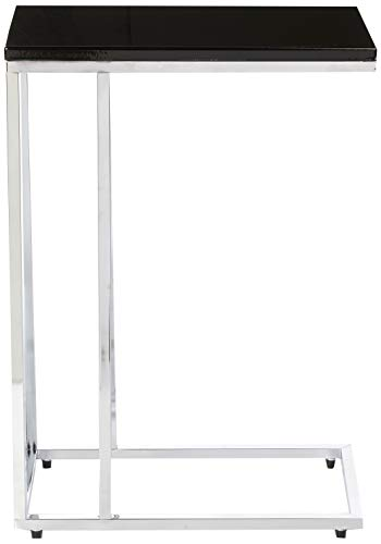 Aspecto Bellini Sofa - Mesa Auxiliar para Ordenador portátil, Madera, Color Negro, 46 x 25,5 x 63,5 cm