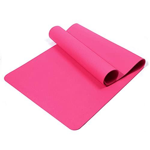 Esterilla De Yoga, TPE Esterilla De Yoga Ejercicios Antideslizantes, para Entrenamiento Físico, Compactas Y Ligeras, para Pilates, Yoga (183cm*61cm*8mm,Pink 1)