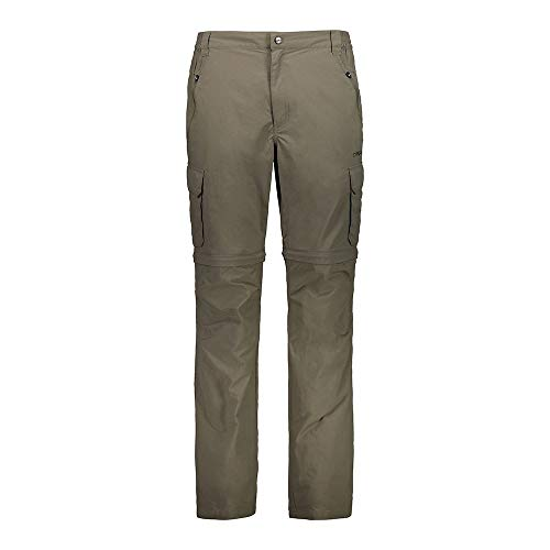 CMP 30T6157 - Pantaloni da Uomo Zipp off con Tasche Laterali sulle Gambe, 46