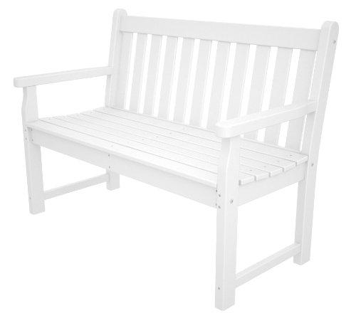 Polywood Tgb48wh Traditionnel Banc de Jardin 121,9 cm, Blanc