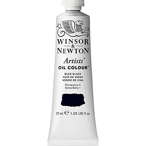 Winsor & Newton Artists' Oil Color Paint, 37-ml Tube, Blue Black