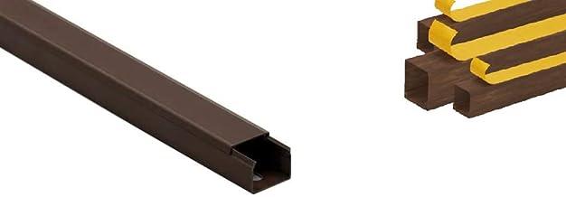 KOMIB 10M kabelgoot - kabelgoten / bruin - hout bruin / zelfklevend / klaar voor montage / lengte = 1 meter (25 x 16 mm - ...