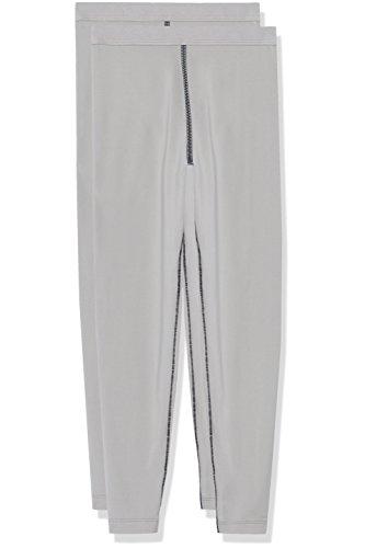 RED WAGON Amazon-Marke: RED WAGON Mädchen Thermounterwäsche - Unterteil Legging Double Pack, Grau (Mid Grey), 122, Label:7 Years