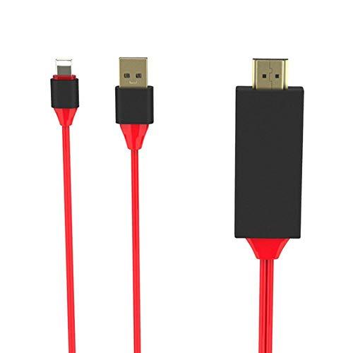 Perfuw Adaptador Lightning a HDMI, adaptador de cable Ightening a HDMI, adaptador...