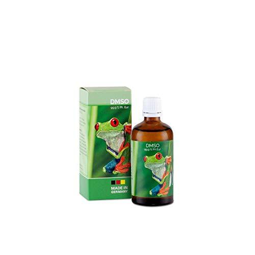 DMSO - 99,9% pharmazeutische Reinheit in der Braunglasflasche mit Dosierhilfe Ph. Eur. Qualität - unverdünnt - Dimethylsulfoxid hergestellt in Deutschland (100 ml)