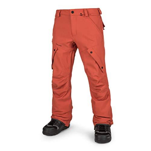 Volcom Herren Articulated Modern Fit Snow Pants Schneehose, Burnt orange, Klein