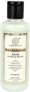 Khadi Natural Ayurvedic Greentea Aloevera Hair Conditioner, 210ml