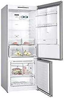Siemens free-standing fridge-freezer with freezer at bottom Inox- KG76NVI30M