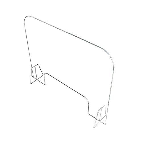 Écran de Protection pour Comptoir de Magasins et Établissements Polycarbonate Transparent de 40x40 Écran pour comptoirs Ultra RÉSISTANT et Stable Séparateur pour Écoles et Supermarchés,50X50