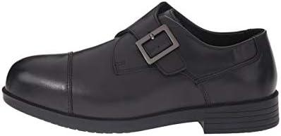 Drew Shoe Mens Canton Leather Buckle Dress Oxfords, Black Calf, Size 13.0