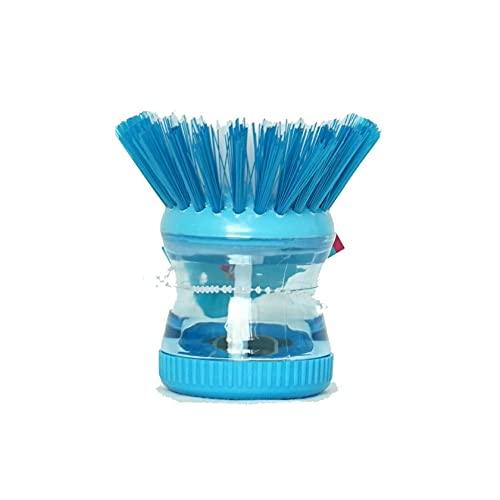 Cepillo dispensador de jabón, cepillo de limpieza de cocina, cepillo de almacenamiento de jabón cepillo de cocina para fregadero, olla