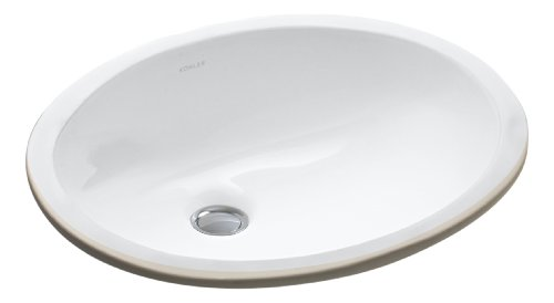 KOHLER K-2209-0 Caxton Under-Mount Bathroom Sink, White