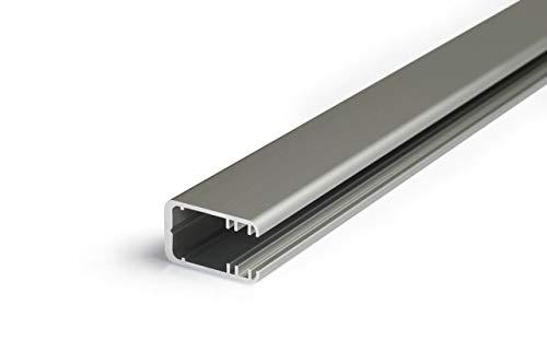 Eloxiertes Aluminium Glaskantenprofil für 12mm LED-Streifen - Ural