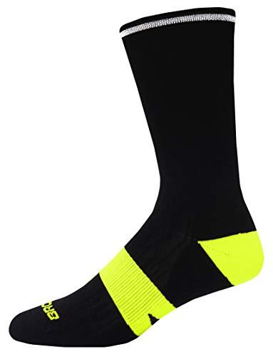Brooks Nightlife Crew Running Socks Black/Nightlife Size Small/Medium