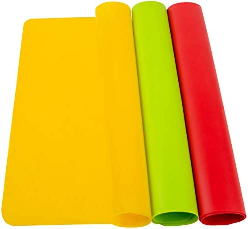 POPCO 3 Pack Reusable A3 Large 16 5 x 11 7 inches Heat Resistant Silicone Sheets for Crafts product image