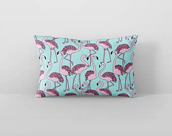 Mesllings Florida Flamingo - Funda de almohada rectangular decorativa para sofá, sala de estar, 50 x 76 cm