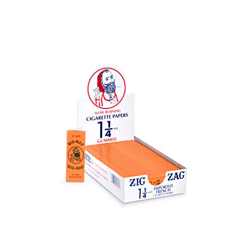 Zig-Zag Rolling Papers - 1 1/4 French Orange Rolling Papers - Natural Gum Arabic - 78 MM - 24 Booklets with 32 Papers per Booklet