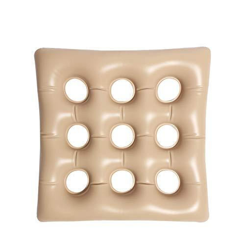 YUXINCAI Aufblasbares Kissen Square Portable Zur Linderung Von Rückenschmerzen Ischias-Steißbein Medizinische Aufblasbare Matratze