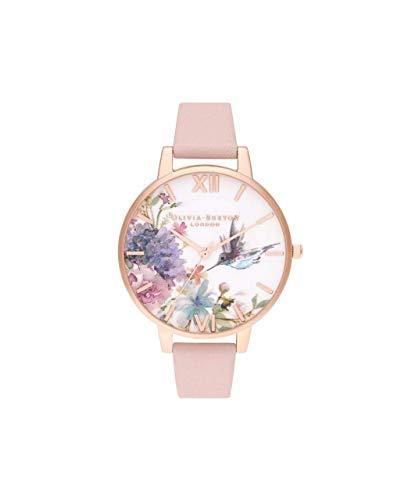 Olivia Burton Damen Analog Quarz Uhr mit Leder Armband OB16PP44