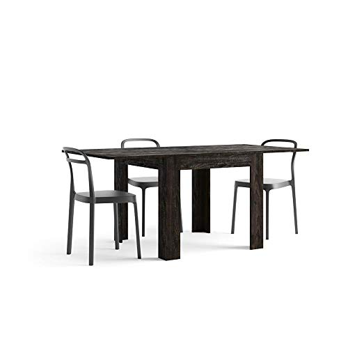Mobili Fiver, Table Extensible, Eldorado, Chêne Brown, 90 x 90 x 79 cm, Made in Italy