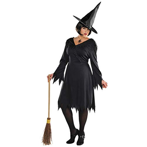 Suit Yourself Classic Witch Halloween Costume for Women, Black, Plus Size