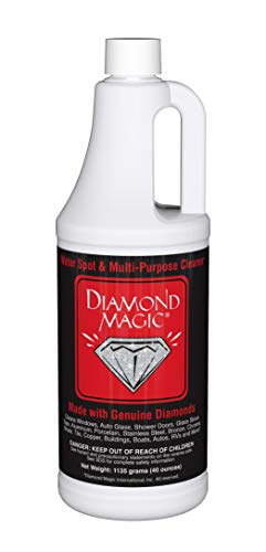 Diamond Magic - Water Spot & Multi-Purpose Cleaner (40 Ounces) Clean with The Power of Genuine Diamonds! Professional Cleaner/Hard Water Stain Remover. Made in The USA!