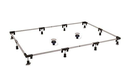 Aqualuxbad Montagerahmen für Duschwannen Duschwannenfuß Wannenfuß von 75 x 75 bis 120 x 200 cm
