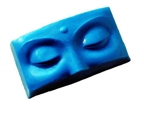 1pc Buddha Eyes, Spirit Face, Yoga Head Rectangle Plastic Soap Making Mold Mould 90x47x30mm