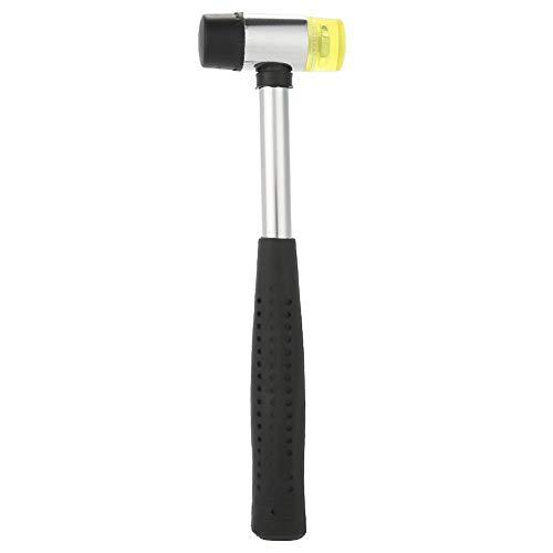 Martillo multifunción, mango de acero con empuñadura de goma antideslizante, herramienta doméstica de doble cara para martillo de cabeza, 25 mm
