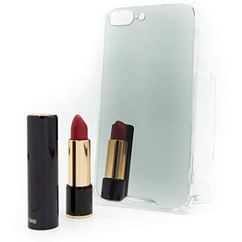 CaseTech Funda Lujo Espejo | Compatible con iPhone 7, 8 Plus | Transparente | Mirror Cover, Premium Case | Marco Flexible, Absorción de Golpes | (iPhone 7 Plus, 8 Plus, Plata)