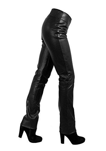 Unbekannt Kathrin Damen Lederhose aus echtem Lamm Nappa Leder (Schwarz, XS)