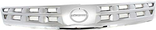 Evan-Fischer Grille Assembly Compatible with 2003-2005 Nissan Murano Chrome Shell and Insert