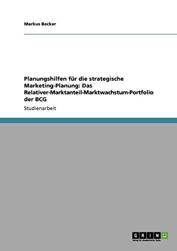 Planungshilfen für die strategische Marketing-Planung: Das...