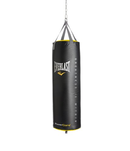 Everlast Powercore Nevatear Heavy Bag 100 lb - Black/Yellow