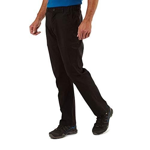 Craghoppers Kiwi PRO - Pantaloni da Trekking da Uomo, Uomo, Pantaloni da Escursionismo, CMJ564L 800038, Nero, 38W Long