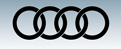 Designed-Perfection Set of 2 200x70mm RINGS - Side Skirt/Body Work Vinyl Decals for Audi Owners (MATTE BLACK)