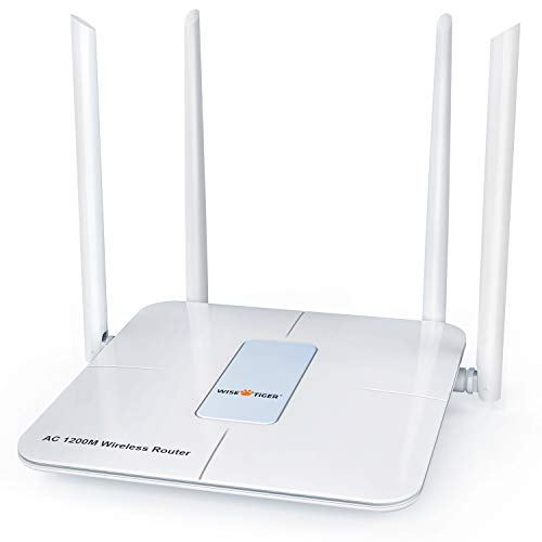 Wireless Router 1200Mbps Long Range Wifi Router AC High Speed Dual Band Router with 4 LAN Ports...
