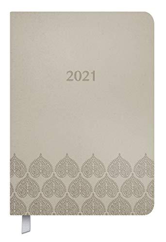 Timer Soft Touch 18 Monate taupe 2020/2021: Terminplaner A5 in Lederoptik. A5 Terminkalender I Kalendarium von Okt. 2020-März 2022, Notizen und Lesezeichenband