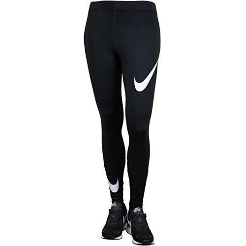 Nike Leg-A-See Swoosh Leggings (XS, black/white)