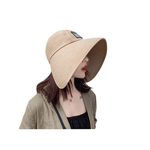 Sonnenhut Atmungsaktiv Schirmmütze Damen Einfarbig Fischerhut UV Schutz Sonnenmütze Erwachsene Krempe Mütze Sonnenschutz Hüte Einheitsgröße Wanderhut Outdoor Schlapphut für Reisen Strand Wandern