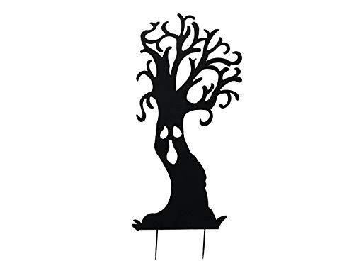 showking Halloween Silhouette Baum Spooky Tree, Metall, schwarz, 150cm - Fenster Dekoration