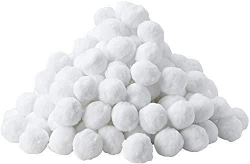 MVPower Filterbälle, 1400g für Leistung von 50kg Filtersand&Quarzsand, Filter Balls Poolzubehör für Glas- und Sandfilteranlagen,Für Salzwasser, Umweltfreundlicher Ersatz(Weiß-6)