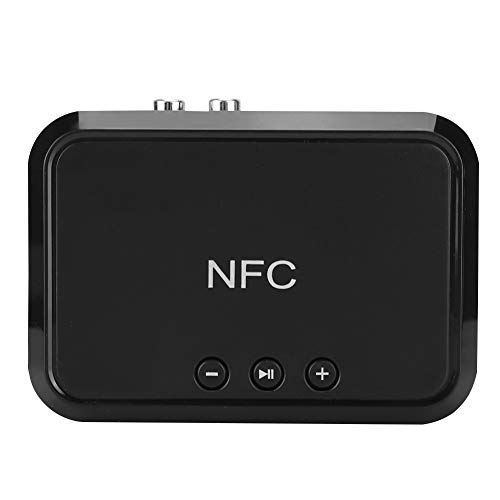 fasient Bluetooth 4.1 Receiver Portable NFC Wireless Audio Music Lossless Adapter Standard RCA 3.5 mm Jack Suitable for Home Use and Office