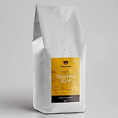 Brown Bear Breakfast Blend, Light Roast, Coffee Beans, 1kg