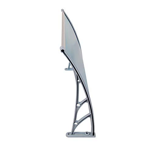 Lw Canopies deurkanopy, polycarbonaat, ingangsdeur, luifel voor voordeur 60×120cm