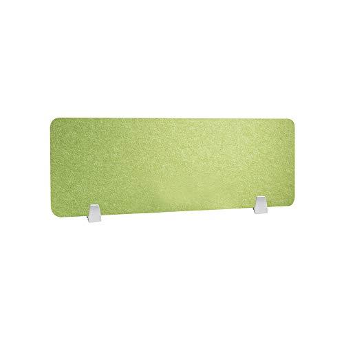 HEFUTE Büro Trennwand Datenschutz-Panel Schreibtischteiler mit 2 Klemmen Bildschirm Büro Schule Zubehör für Studenten 30 * 80 Grün
